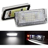 Bombillas para luces para matrícula KATUR, luz blanca 18 LED, compatibles con BMW,