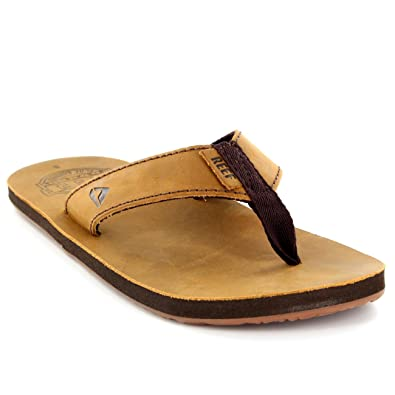 60b376e7aafb Reef Mens Smoothy 30th Anniversary Leather Surf Flip Flop Beach Sandals UK  7-12