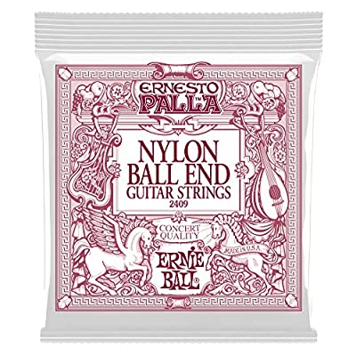 Ernie Ball 2403 Ernesto Palla Nylon Clear and Silver Classical Tie On Set