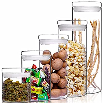 Botella de vidrio sellado cocina cultivos de leche en polvo de té de flores medicina tinajas