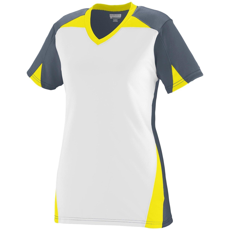 Augusta Sportswearレディースマトリックスジャージー B00P542W70 M|Graphite/White/Power Yellow Graphite/White/Power Yellow M