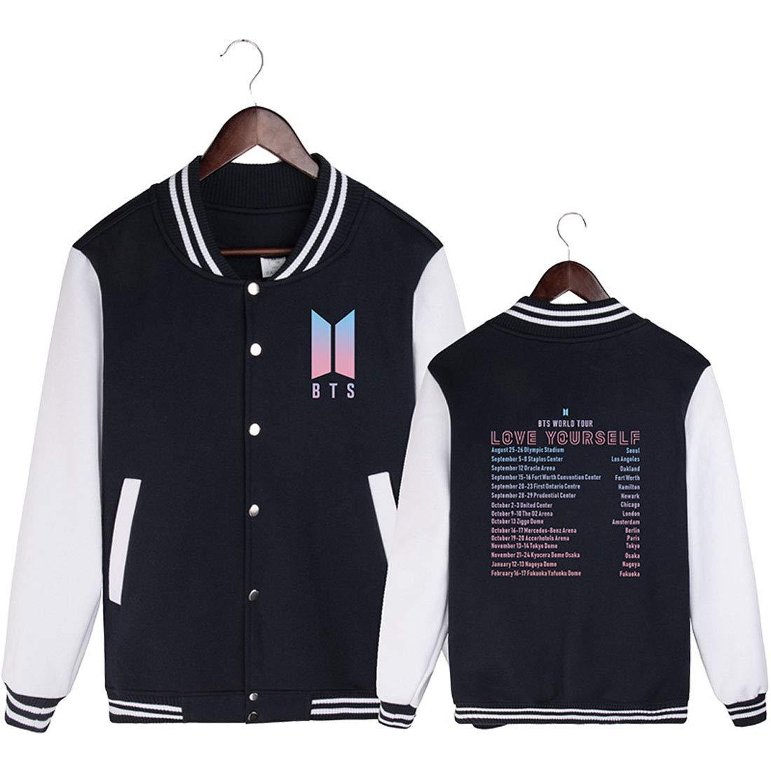 ALLDECOR KpopBTS LOVEYOURSELF Fanmade Baseball Uniform Hoodie Thick Jacket Coat