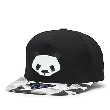 panda baseball hat kung fu cap animal black white flat bill giants