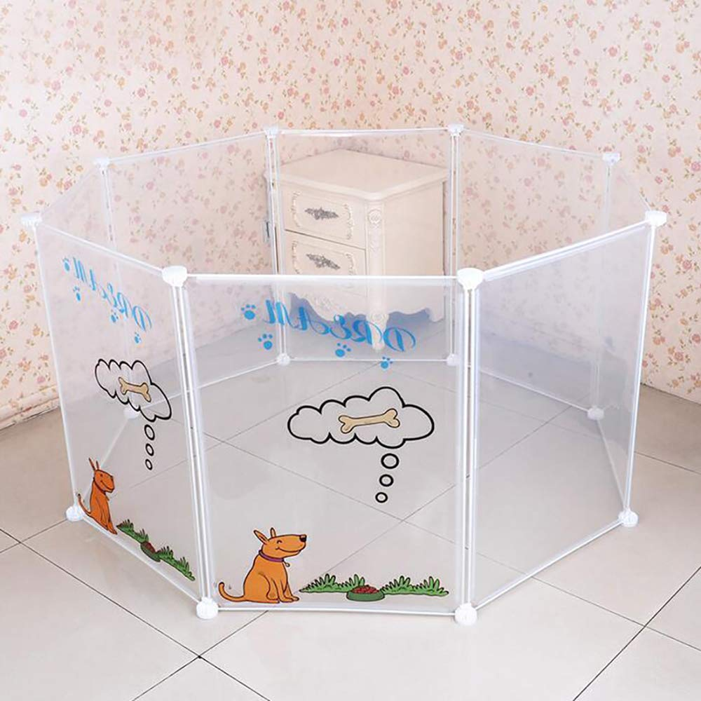 Pet Playpen, Pet House Foldable Dog Fence Puppy Kennel Exercise Training Puppy Kitten Space Rabbits Guinea Pig Hedgehog,8 Panels Easy Assembly