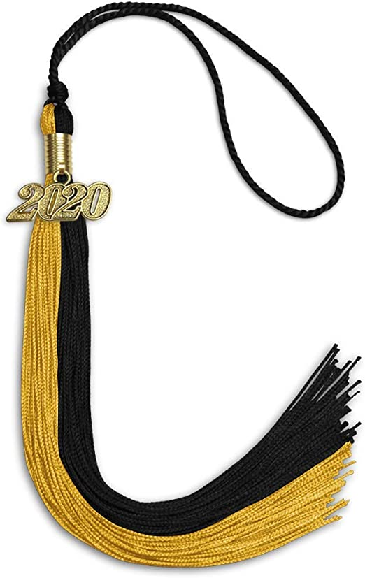 FLCODA Dual Color 2021 Graduation Cap Tassel 2021, Black
