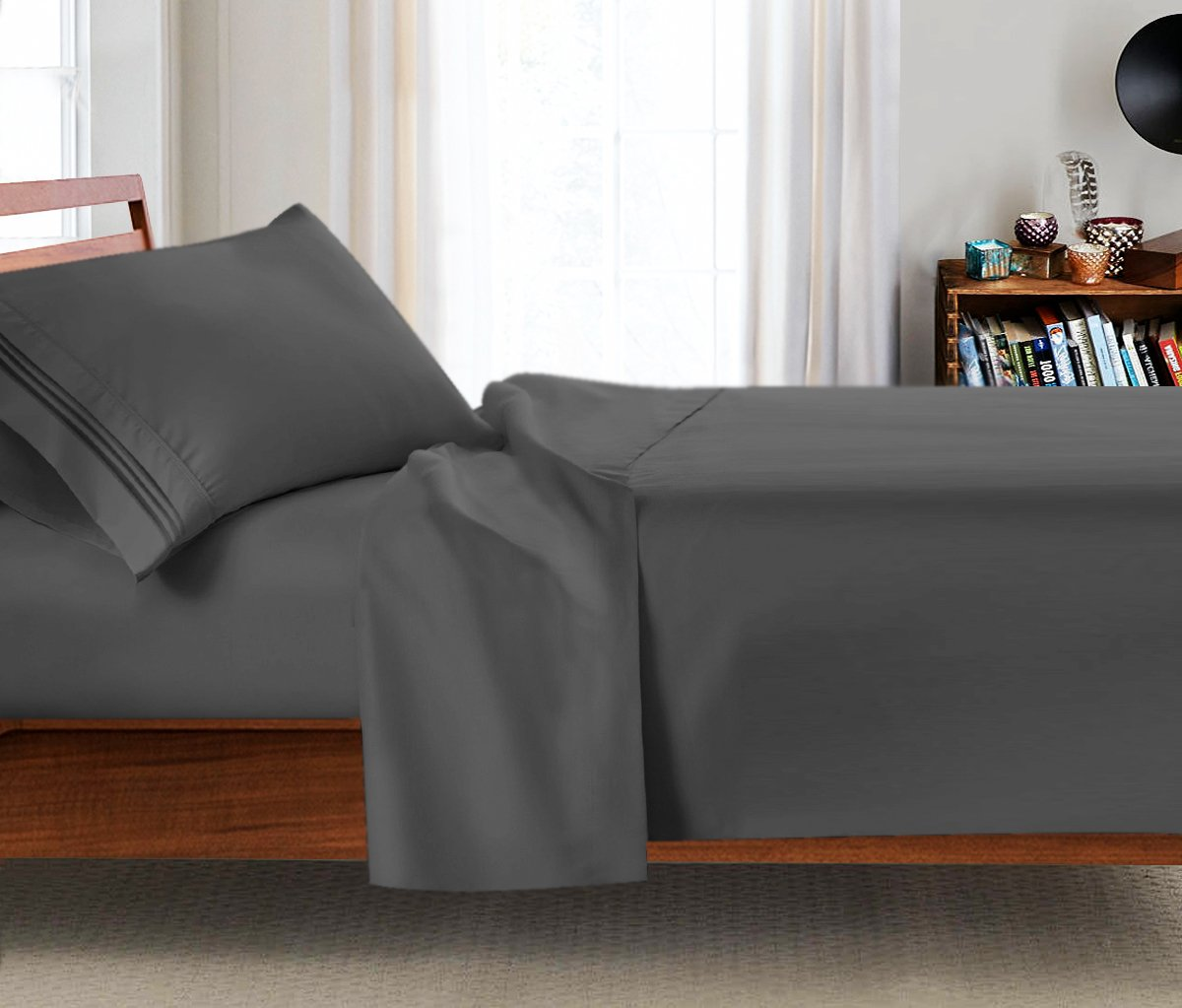 College Dorm Room 3Pc Bed Sheet Set, Twin-Extra Long Size 39''x 80'' - Hypoallergenic Brushed Microfiber Sheets. By Clara Clark
