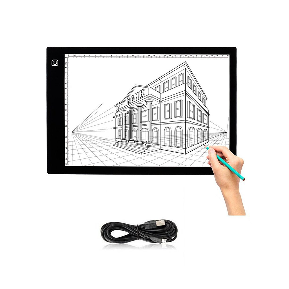 Tracing Light Box - Yuelong Ultra-thin Portable A4 LED Light Pad,Tattoo Light Table Tracer USB Cable with Brightness Adjustable, Used for Artists,Drawing, Animation,X-ray Viewing,Tattoo Transferring