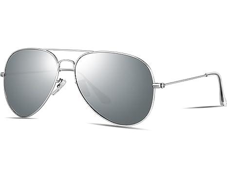 ATTCL Homme Classique Aviator Lunettes de soleil homme Polarisées Lunettes  3026silver-silver a9ac72f4e023