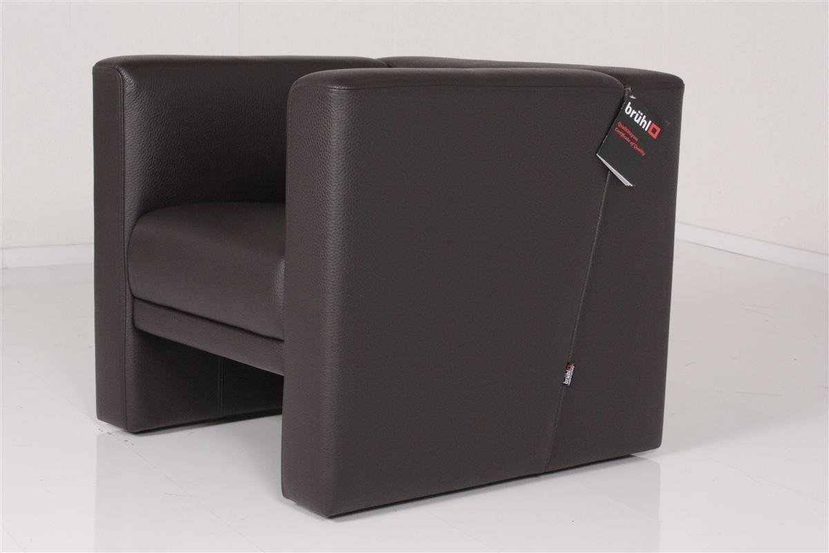 Brühl Sessel Einzelsessel Ledersessel VISAVIS braun