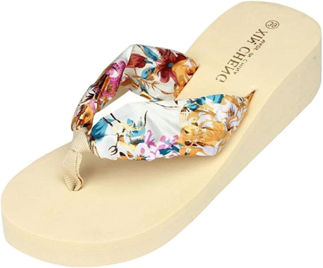 Camellia Flip Flops Women Summer Beach Flip Flops Bohemian Soft Heels Ladies Shoes Cozy Slides Slip On Shoes