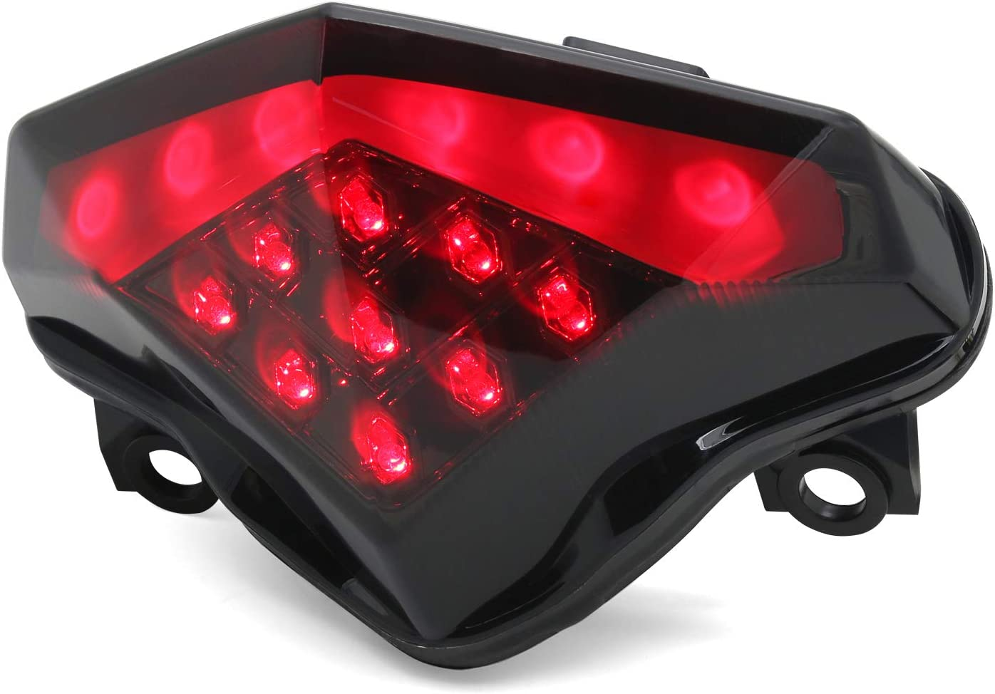 Integrated Sequential LED Tail Lights Smoke Lens for 2012-2016 Kawasaki Ninja 650