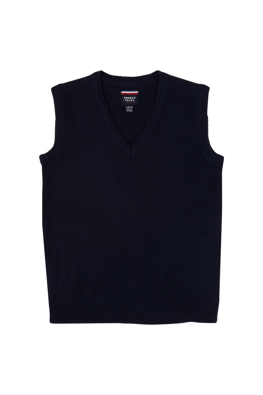 French Toast Big Boys' V-Neck Vest, Navy, Large/10-12