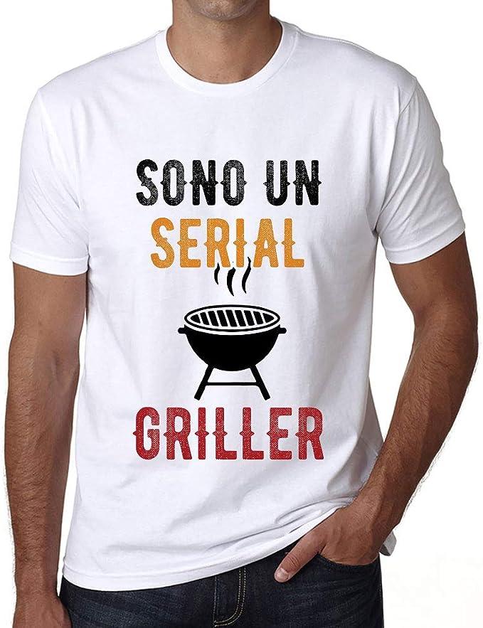 Barbecue Regalo Uomini Maglietta Sono Um Serial Griller