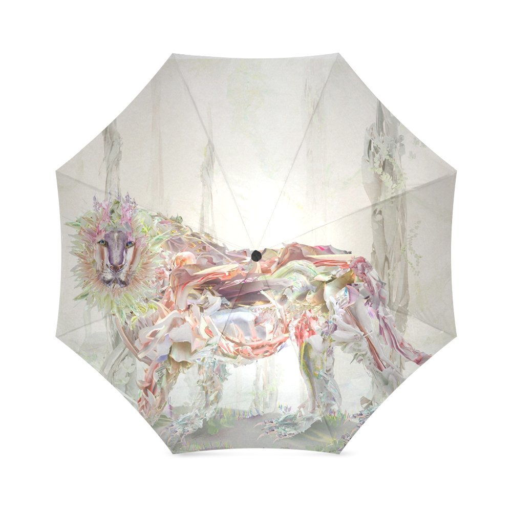 wokfox pintado León Custom plegable paraguas personalizados plegable lluvia paraguas: Amazon.es: Deportes y aire libre