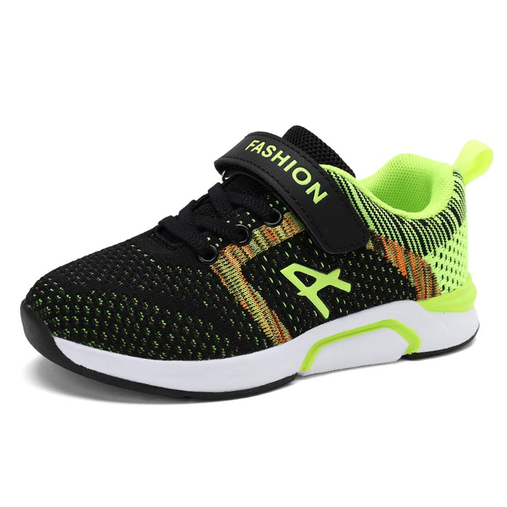 FLORENCE IISA Kids Athletic Running Shoes Knit Breathable Lightweight Walking Tennis Sneakers for Boys Girls YB01