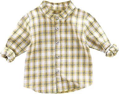 Squarex - Camisa de Manga Larga para niños y bebés, diseño de Cuadros: Amazon.es: Ropa y accesorios