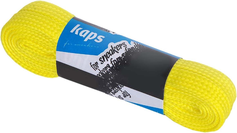 1 Paire Kaps Sneakers Laces Fabriqu/és En Europe Lacets Durables De Qualit/é Pour Chaussures De Sport Plusieurs Couleurs Et Longueurs