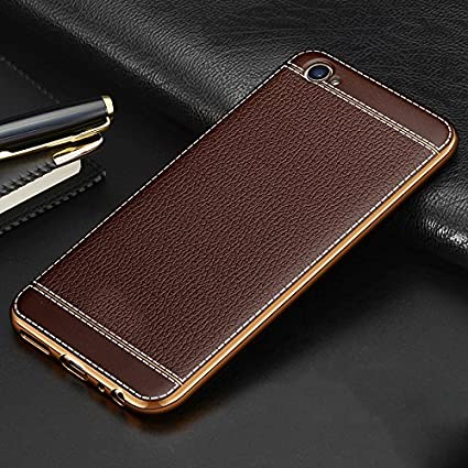 new style 21649 a73f5 Excelsior Premium Silicon and leather back cover case for Oppo F3 - Coffee