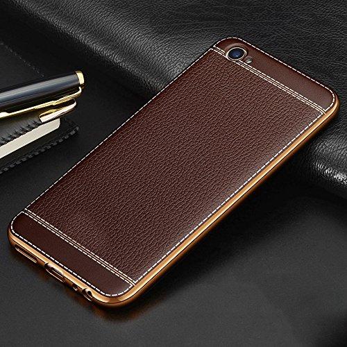 Excelsior Silicon Back case Cover for Vivo V5 Plus  Coffee  Mobile Accessories