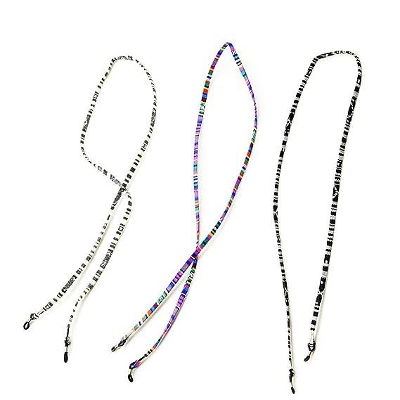 3f0b865362 TENDYCOCO Correa antideslizante de gafas de sol de 3 piezas Cadena de gafas  antideslizante Retenedores de gafas Soporte de cordón Correa de cordón: ...