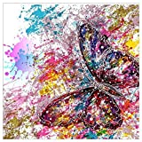 BBTO Diamond Painting Kits Colorful Butterfly Diamond Painting 5D Full Drill Rhinestone Art Craft for Home Parties Decorations