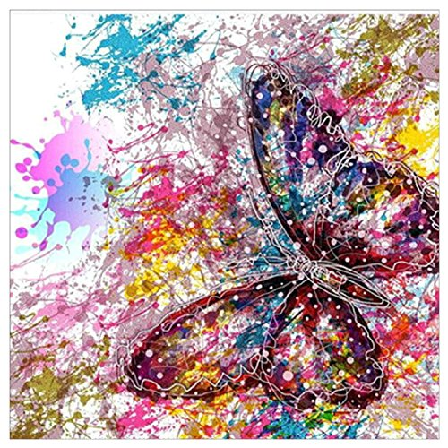 BBTO Diamond Painting Kits Colorful Butterfly Diamond Painting 5D Full Drill Rhinestone Art Craft for Home Parties Decorations by BBTO