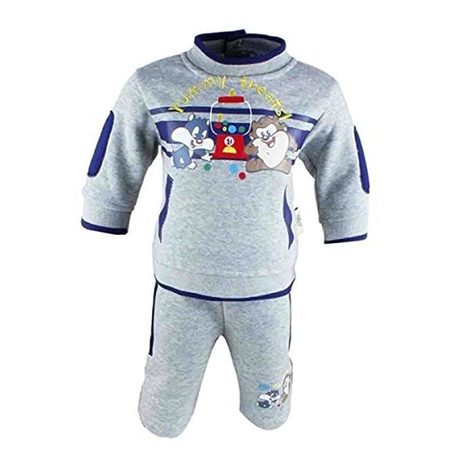 Looney Tunes – Conjunto Dos Piezas Wet – Pantalón – para bebé niño gris 3 Meses