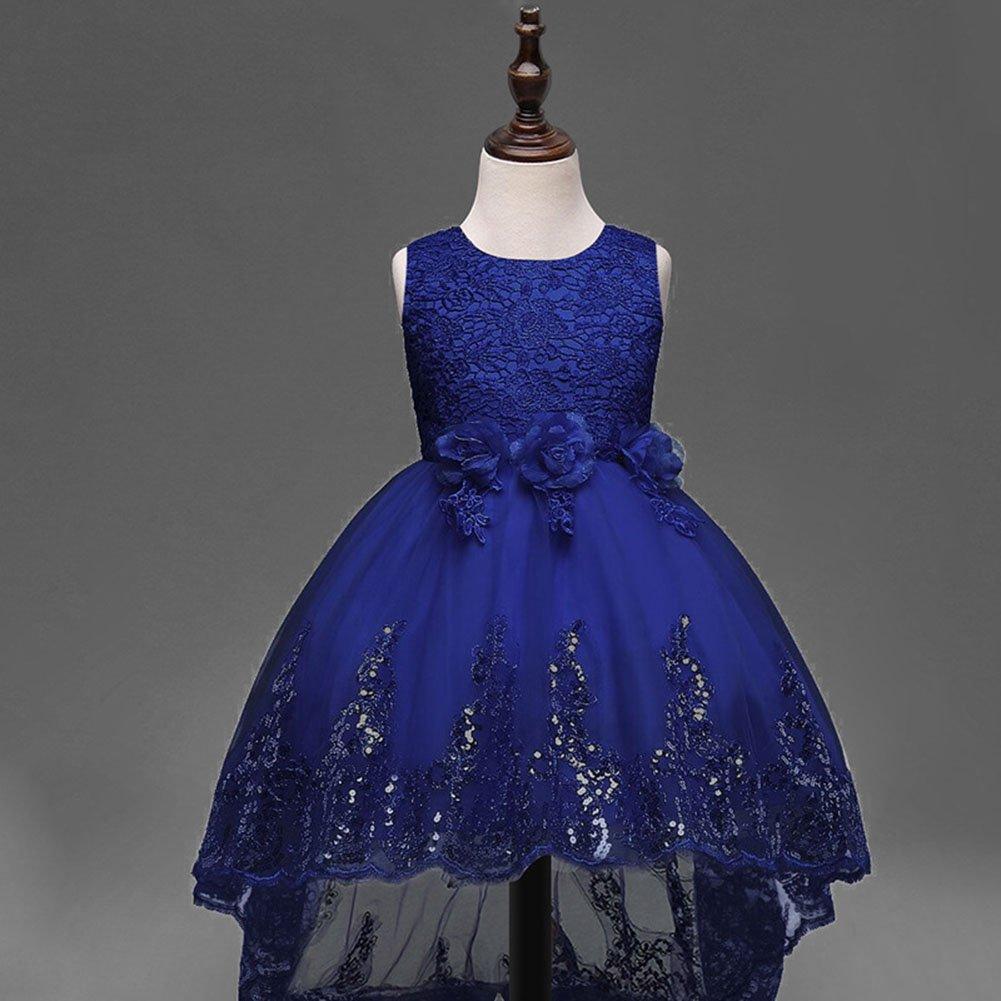Baby Madchen Kleid Prinzessin 3d Blume Tull Kleid Armellos