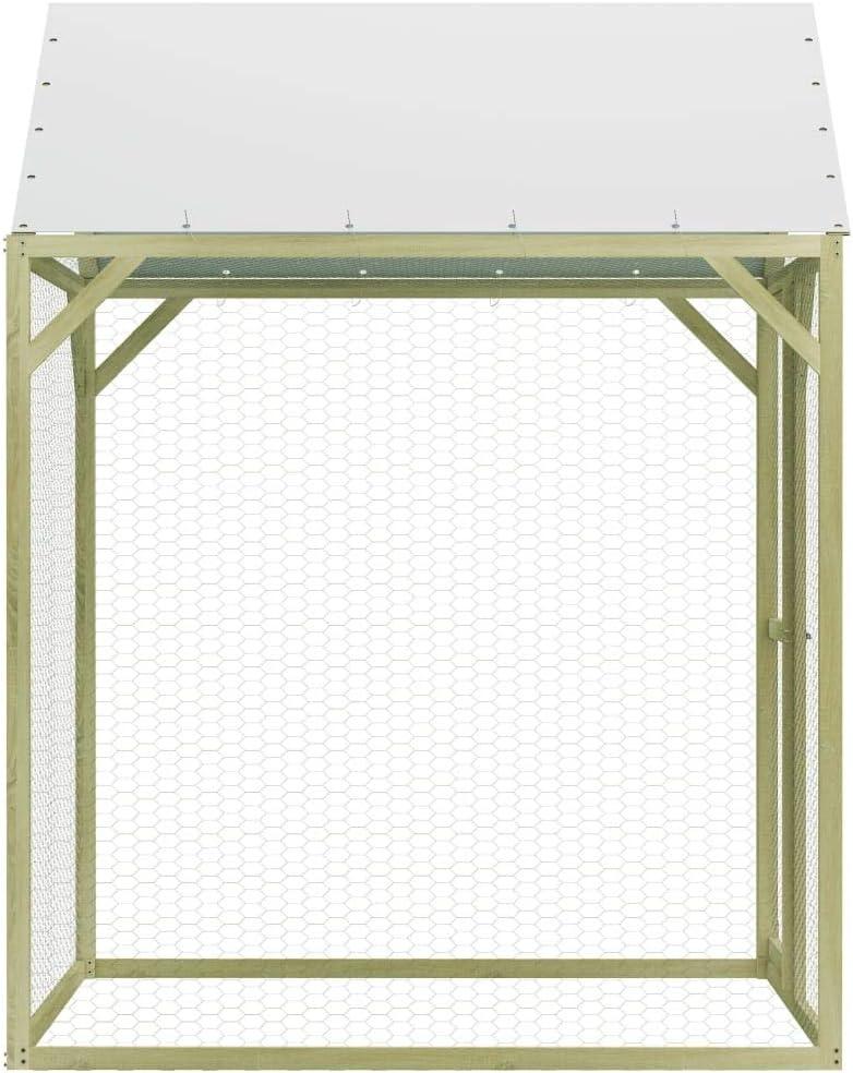 Festnight Poulailler Cage /à Poule Durable R/ésistant aux Intemp/éries 1,5x1,5x1,5 m FSC Pin/ède impr/égn/ée