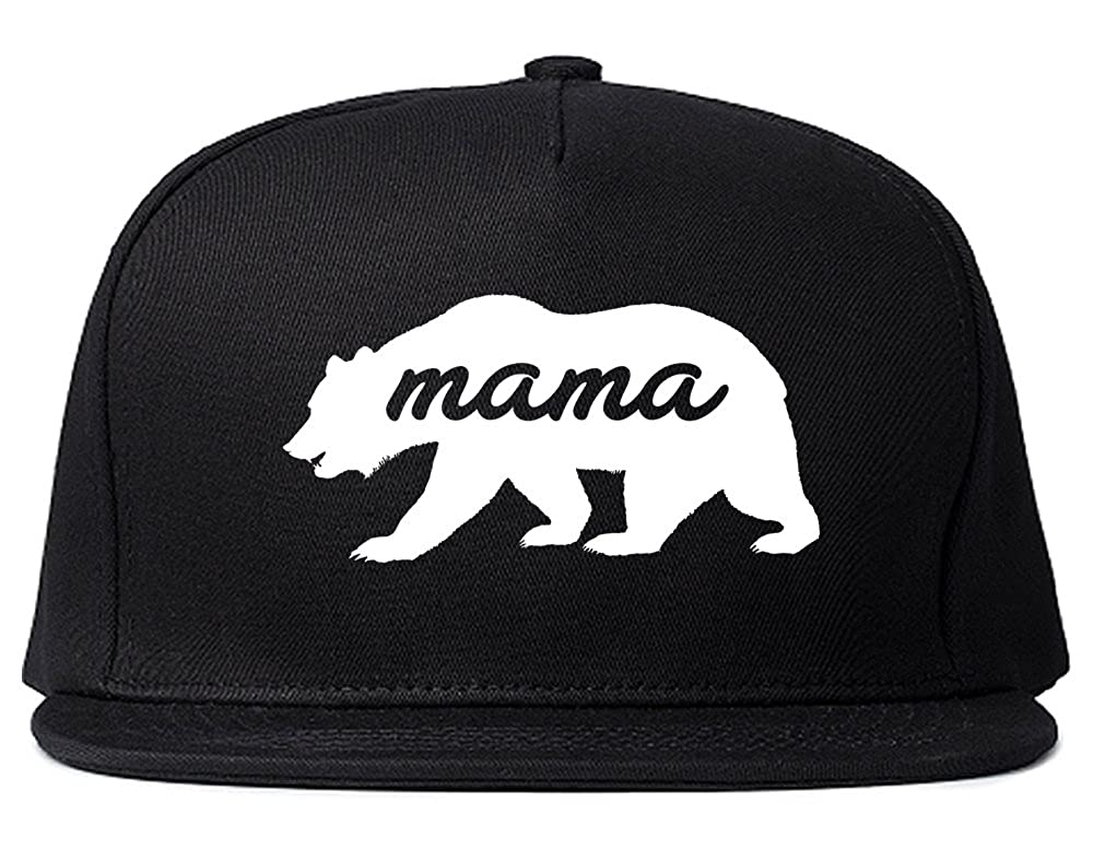 Amazon.com  Mama Bear Animal Snapback Hat Black  Clothing 6039d613582