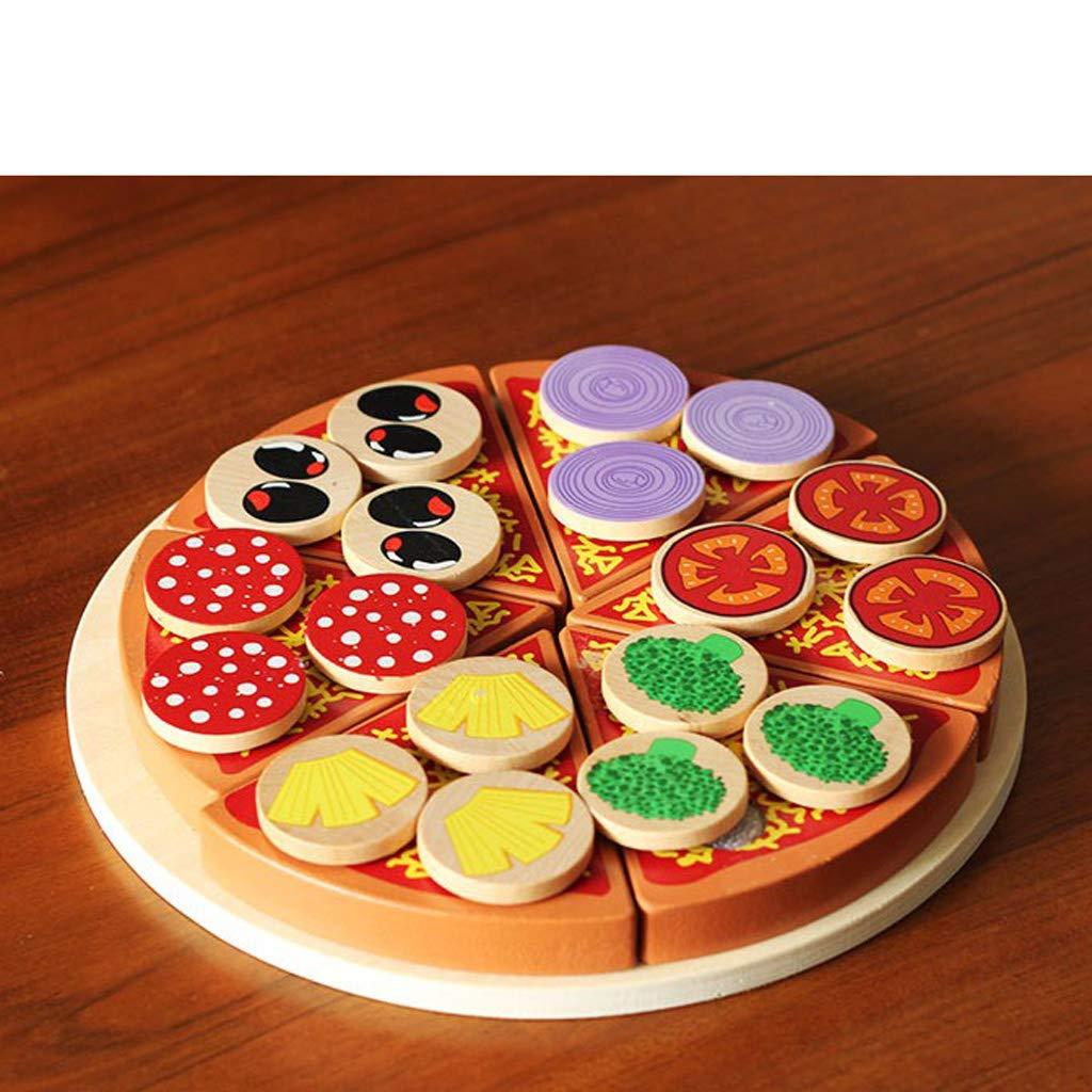 Fenteer K/üchenspielzeug Pizza Gem/üse Lebensmittel Holzpizza Essen Spielzeug f/ür Kinder-Spielk/üchen Puppenk/üche