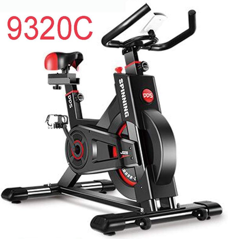 屋内サイクリングバイク アップライトエクササイズ調節可能な抵抗静止した静かなフィットネススピニングバイクトレーニングトレーニング機器屋内サイクリング (Color : 黒, Size : Free size) 黒 Free size