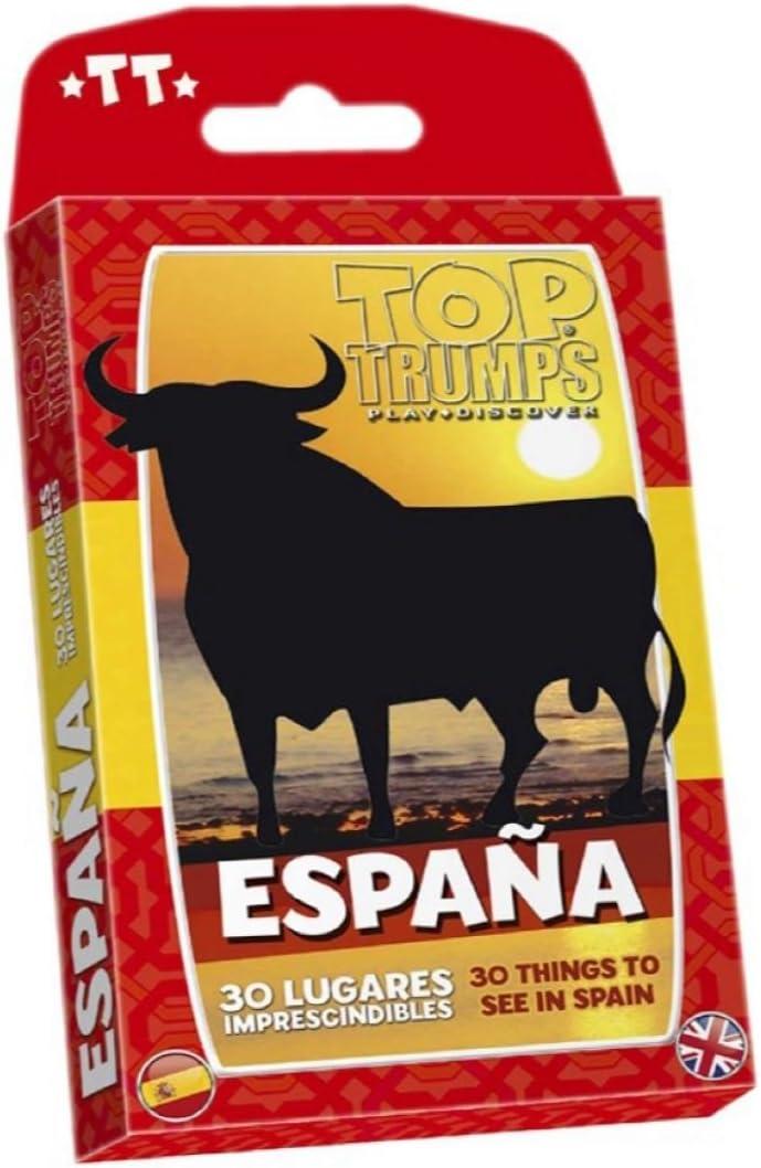 Winning Moves- Top Trumps España 30 Lugares Imprescindibles Juego de Cartas - versión bilingüe en español e inglés (482608): Amazon.es: Juguetes y juegos