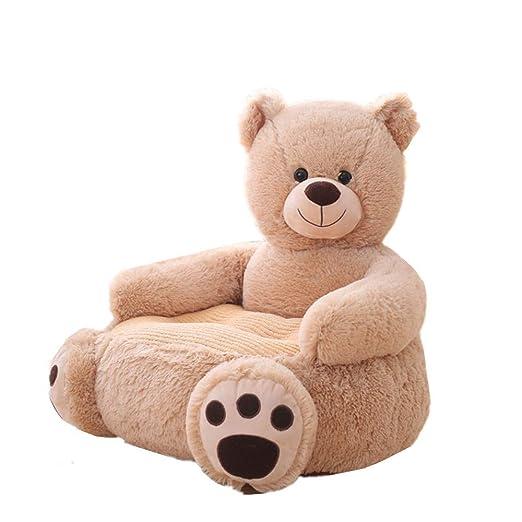 MJTP Bebé Sofá Oso Asiento de Apoyo Aprendizaje Sentado para cojín de Silla Suave Almohadas de alimentación para bebés Regalo de Felpa de Animales ...
