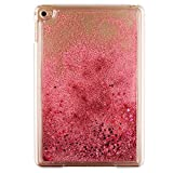 """Liquid Case for 7.9""""Apple iPad Mini4, MAOOY Creative Design Transparent Hard Protective Back Cover with Flowing Water Bling Glitter Flash Powder Skin for iPad Mini 4 - Light Pink"""