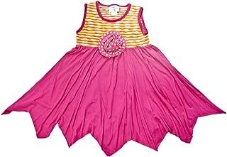 product image for Cheeky Banana Little Girls Knit Handkerchief Dress Fuchsia