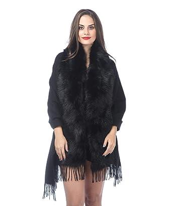 Women Fur Shawl Thick Faux Fur Scarf Coat Collar Dress Cape Winter Warming Scarves Women's Scarf Sets Apparel Accessories