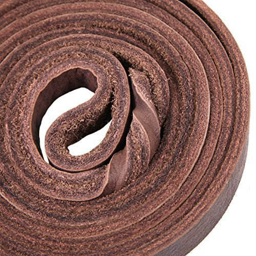 Petroad Heavy Duty Brown Leather Dog Leash for Large Dogs, Training Lead for Dogs and 6ft Long and 3/4 inch Large (Brown)
