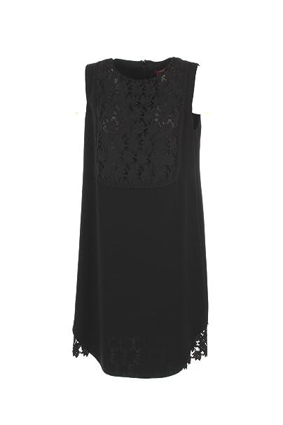 MaxMara Vestido de Las Mujeres 50 Negro Angri Otoño Invierno 2017/18