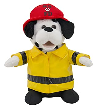 Cuddle Barn Animated Plush Firefighter Dalmatian Dog Toy Sparky