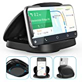 Cell Phone Holder for Car,JOYEKY Vertical Horizontal Car Phone Mount with 360° Rotate Detachable Magnetic Base Dashboard Crad