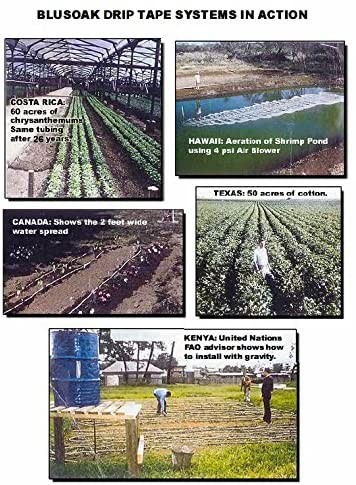 Flow Restrictor Blumat EasySoak 50/' Automatic Watering Slow Soaker Hose System Gardens Adapters Fittings Included Greenhouses Farms