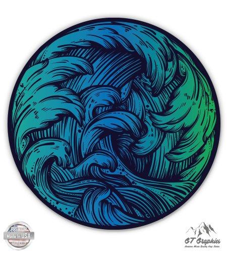 Ocean Wave Beautiful Blue Green - 3