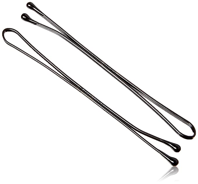 24 Pcs Black Bobby Pins Hair Pins Grips Clips Wave Flat Salon Styling Bob Pin