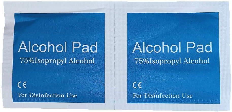 200 3x6cm Toallitas De Algod/ón Desinfectables Alcohol Para Preparaci/ón De Esterilizaci/ón Antis/éptica Toallitas Limpiadoras Para Uso Dom/éstico Port/átil