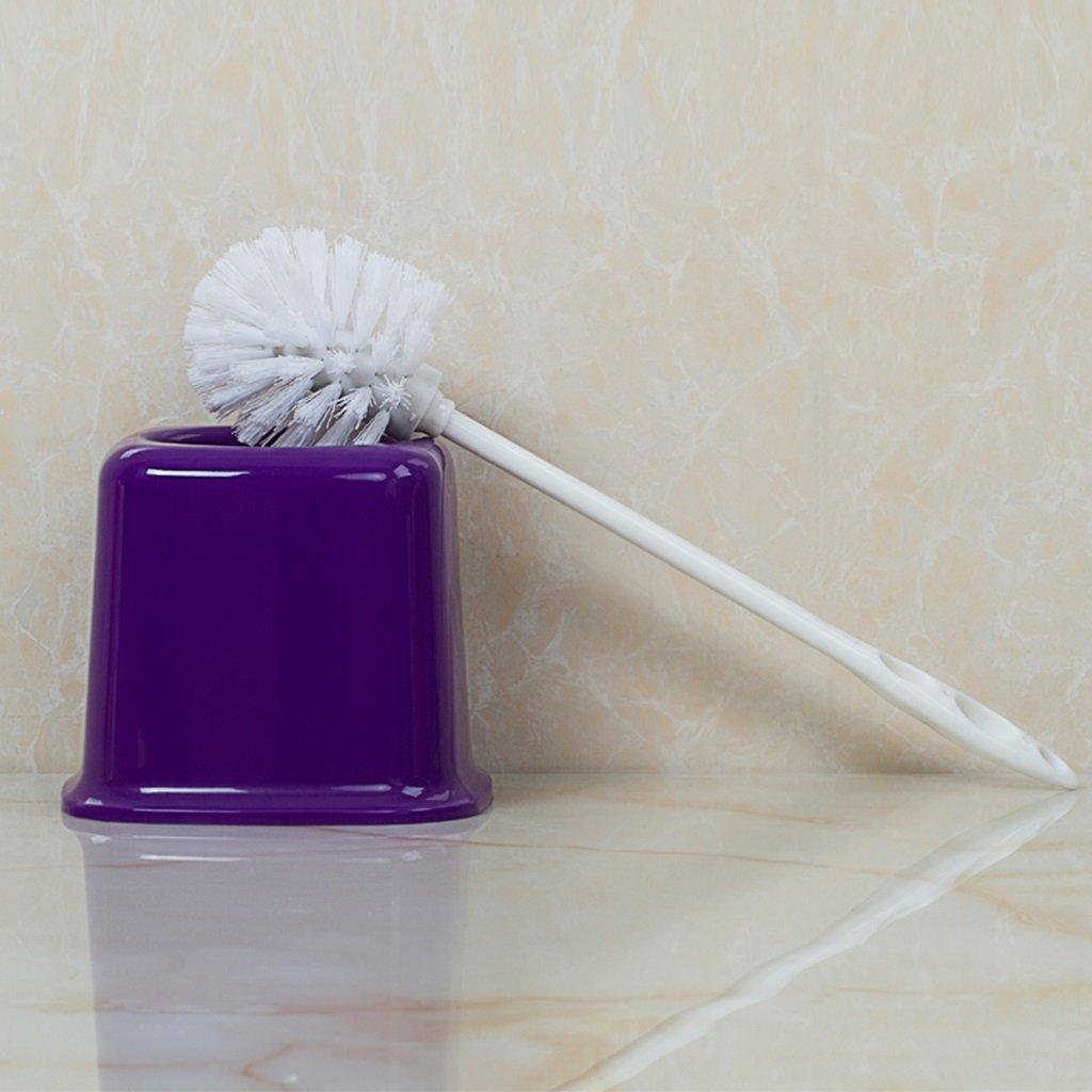 ZGP Toilet accessories Bathroom Toilet Brush Holder Creative Plastic Toilet Brush Toilet Toilet Brush Cleaning Brush (Color : Purple)