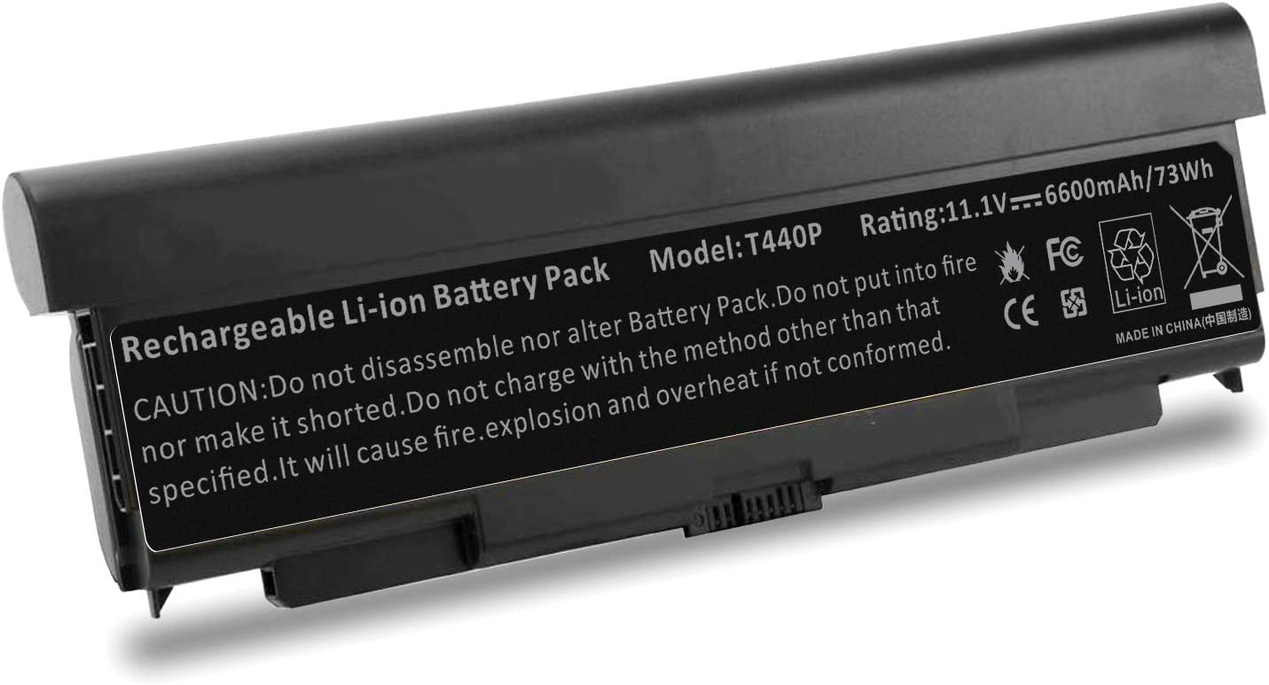 Battery for Lenovo ThinkPad T440P T540P W540 W541 L440 L540, Replace Part Number - 45N1144 45N1145 45N1152 45N1153 45N1150 45N1151 0C52864 0C52863