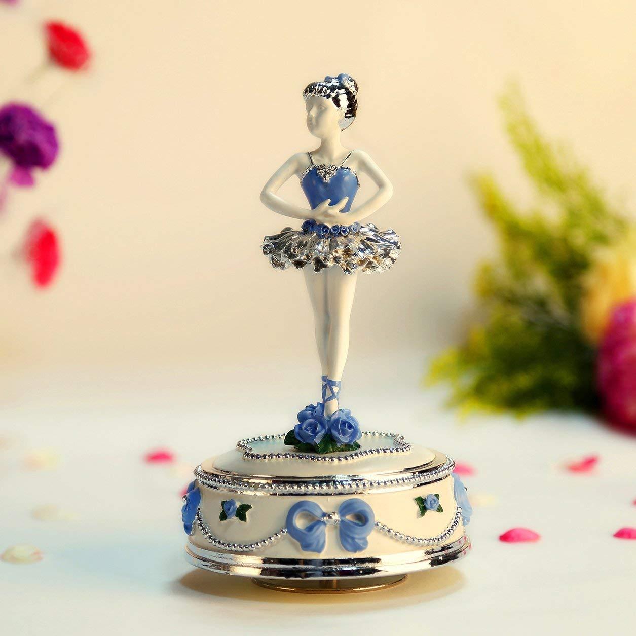 Color: Azul Caja de m/úsica giratoria para Bailarina Lejia