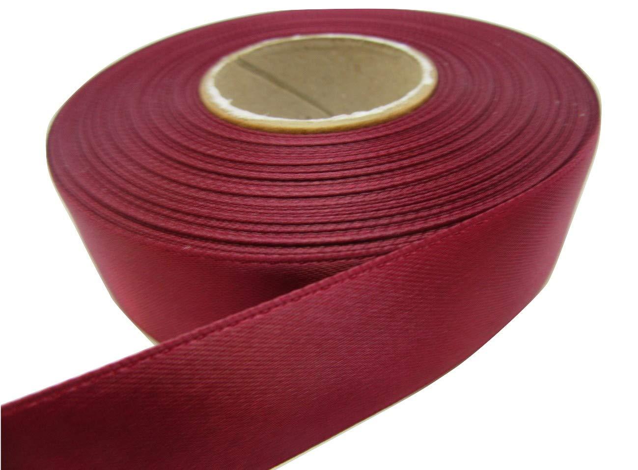 2 metri di nastro di raso 25 millimetri bordeaux a doppio lato 25mm 25 mm Beautiful Ribbon