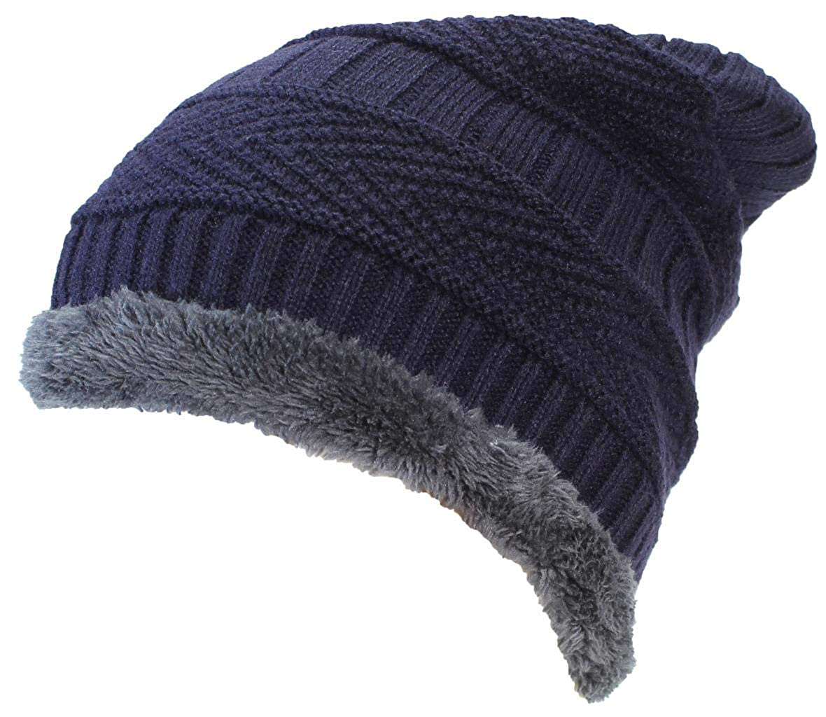 8a1d7327 Amazon.com: Best Winter Hats Adult Insulated Stockinette Knit Beanie ...